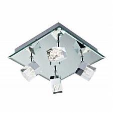 Logic 4 Light Flush Bathroom Ceiling Light LED Chrome