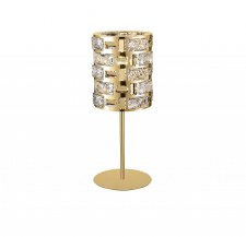 Lola Table/Bedside Lamp Crystal & Gold