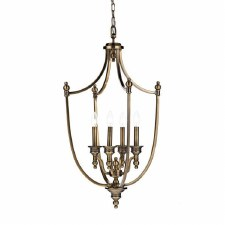 Lombard Lantern Pendant Light Antique Brass
