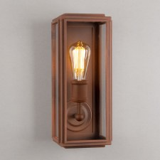 London Wall Lamp Slim Corten Steel
