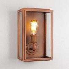 London Wall Lamp Wide Corten Steel