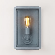 London Wall Lamp Wide Zinc