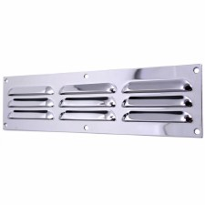 "Louvre Air Vent 12"" x 3"" Polished Chrome"