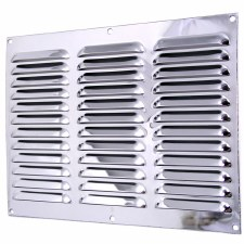"Louvre Air Vent 12"" x 9"" Polished Chrome"