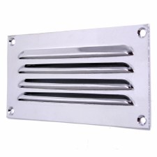 "Louvre Air Vent 6"" x 3"" Polished Chrome"