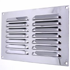 "Louvre Air Vent 9"" x 6"" Polished Chrome"
