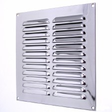 "Louvre Air Vent 9"" x 9"" Polished Chrome"