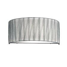 Franklite Lucera Flush Wall Light Silver