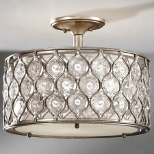 Feiss Lucia Semi Flush Ceiling Light