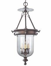 Feiss Luminary 3 Light Ceiling Pendant Bronze