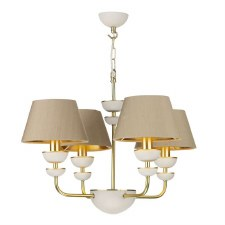 David Hunt LUN8694 Lunar 4 Light Pendant with Shades