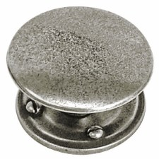 Finesse Luna Cabinet or Cupboard Knob PCK033 Solid Pewter