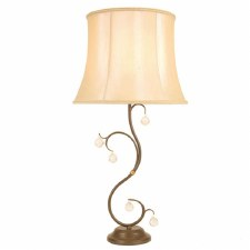 Elstead Lunetta Table Lamp Bronze Patina