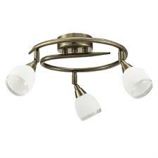 Latina Circular Ceiling Light 3 Lights Bronze