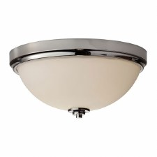 Feiss Malibu Bathroom Flush Light Polished Nickel