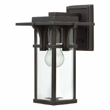 Hinkley Manhattan Small Wall Lantern Oil Rubbed Bronze