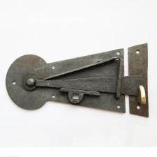 The Manor Door Latch Left Handed Waxed Iron