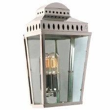Elstead Mansion House Flush Outdoor Lantern Polished Nickel