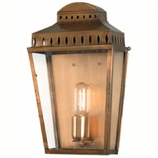 Elstead Mansion House Flush Outdoor Lantern Antique Brass