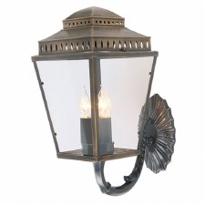 Elstead Mansion House Outdoor Wall Light Lantern Antique Brass