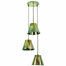 Map Room 3 Light Cluster Pendant Antique Brass