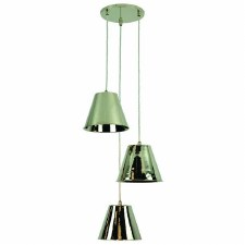 Map Room 3 Light Cluster Pendant Polished Nickel