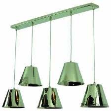 Map Room 5 Light Bar Pendant Polished Nickel