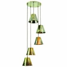 Map Room 5 Light Cluster Pendant Antique Brass