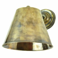 Map Room Large Single Wall Light Antique Brass