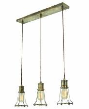 Marconi 3 Light Bar Pendant Antique Brass