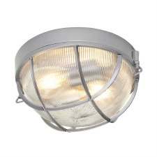 Hinkley Marina Outdoor Flush Mount Wall Light Hermatite