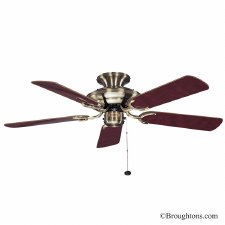 "Fantasia Mayfair 42"" Ceiling Fan Antique Brass"