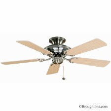 "Fantasia Mayfair 42"" Ceiling Fan Stainless Steel"