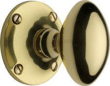 Heritage Mayfair Mortice Knobs MAY960 Polished Brass