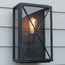 Mayfair Wall Lamp Wide Black
