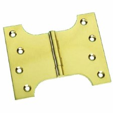"Prima Brass PB235 Parliament Hinges 4"" x 3"" x 5"" Polished Brass Lacquered"