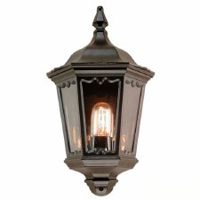 Elstead Medstead Flush Outdoor Wall Light Lantern Black