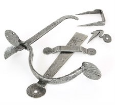 From The Anvil Bean Thumb Latch For Thick Doors Pewter