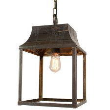 Strathmore Medium Hanging Lantern  Antique Brass
