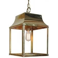 Strathmore Hanging Lantern Medium Polished Brass
