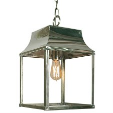 Strathmore Medium Hanging Lantern Polished Nickel