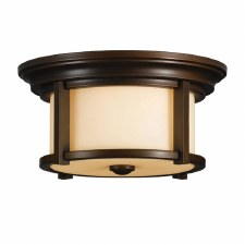 Feiss Merrill Flush Ceiling Light Heritage Bronze
