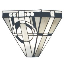 Interiors 1900 Metropolitan Flush Tiffany Wall Light