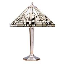 Interiors 1900 Metropolitan Tiffany Table Lamp Aluminium
