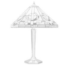 Interiors 1900 Metropolitan Tiffany Table Lamp Nickel