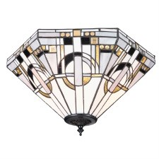 Interiors 1900 Metropolitan Tiffany Flush Light 70779