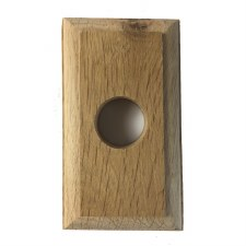 Rectangular Oak Pattress for Door Bells 112mm