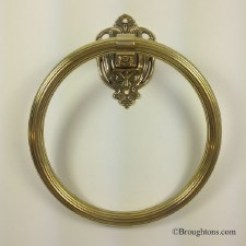 Milano Towel Ring Polished Brass