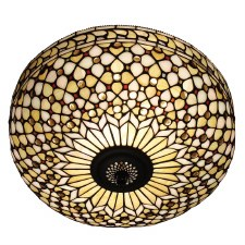 Interiors 1900 Mille Feux Tiffany Flush Ceiling Light