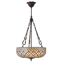 Interiors 1900 Mille Feux Inverted Tiffany Ceiling Pendant Light